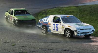 Local drivers race in slick and wet