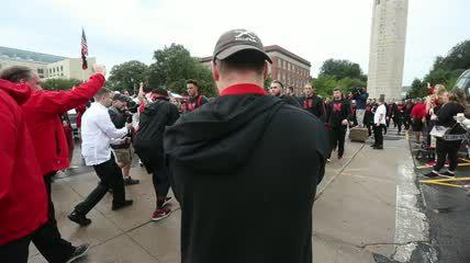 Huskers debut new unity walk before South Alabama game