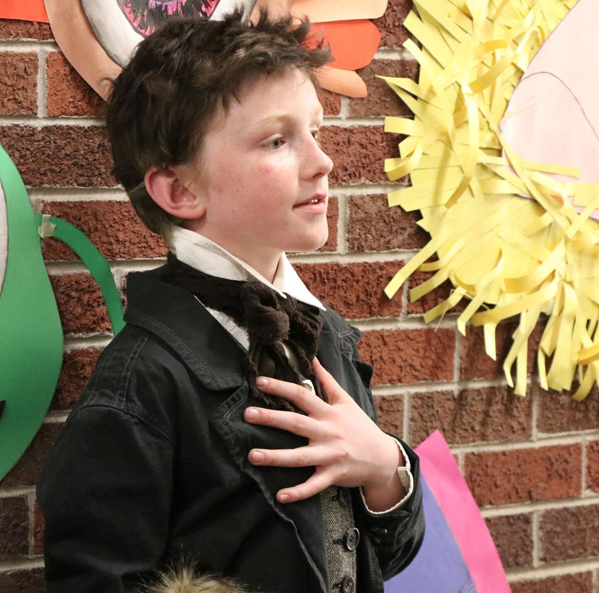 Famous Nebraskans portrayed by elementary students