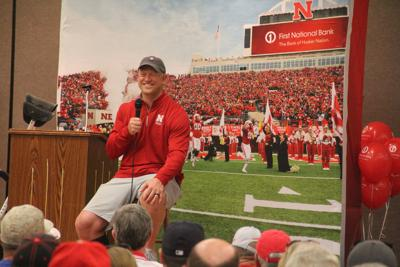 Scott Frost visits Gering as part of 2018 Husker Nation Tour