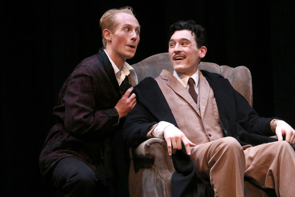 39 steps::1Parody 'The 39 Steps' takes Theatre West stage