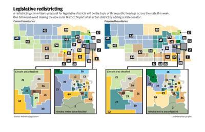 Legislative redistricting maps