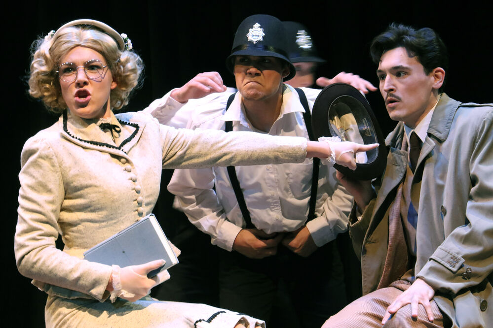 Parody 'The 39 Steps' takes Theatre West stage