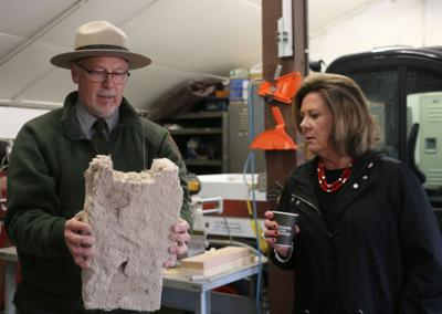 HISTORY Monument saves a piece of its history during renovation Adobe bricks used to build original restrooms preserved as visitors center sees expansion and renovation