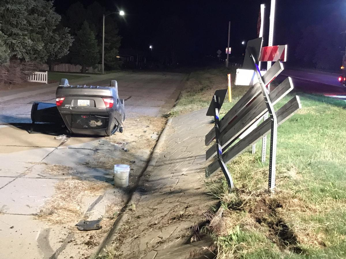 Woman injured in Gering rollover