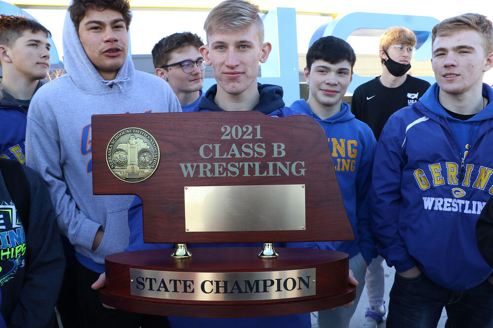 Gering wrestlers pin down title