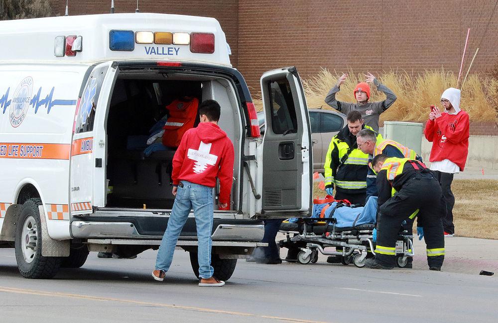 Teen struck by vehicle