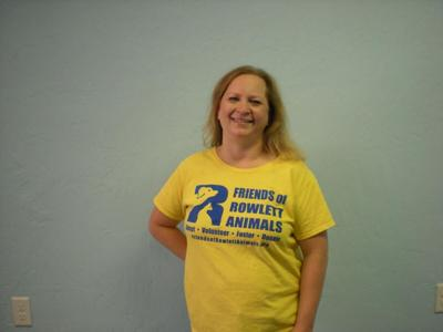 Friends of Rowlett Animals Board Secretary Michele Orahood