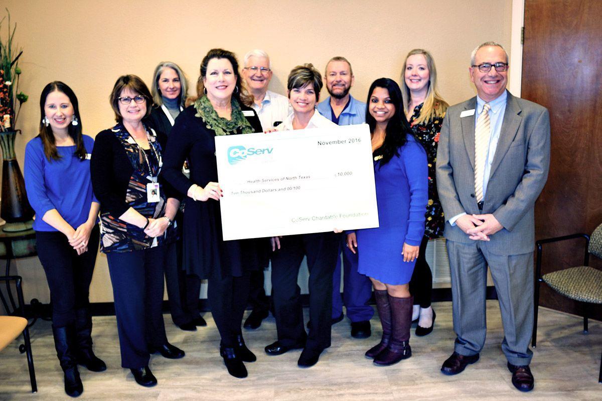 CoServ presents $10,000 check to Health Services of North ...
