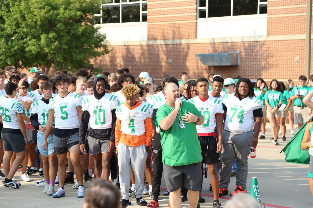 Lake Dallas High School conducts pep rally at Corinth Rehabilitation Suites