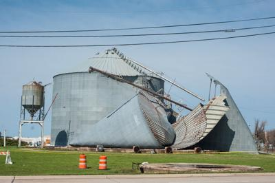 Frisco grain silo collapses during Tuesday storms