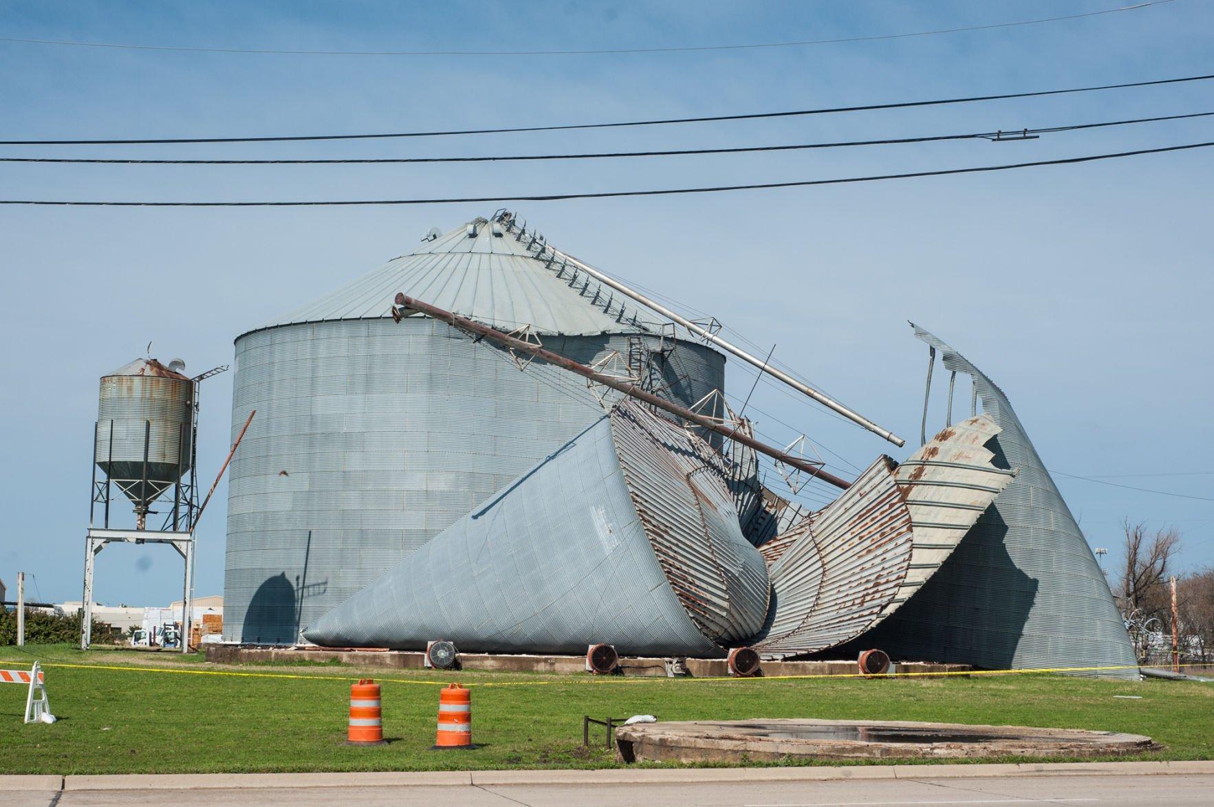frisco grain silo collapses during tuesday storms - Silos