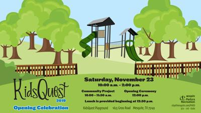 KidsQuest playground opening celebration