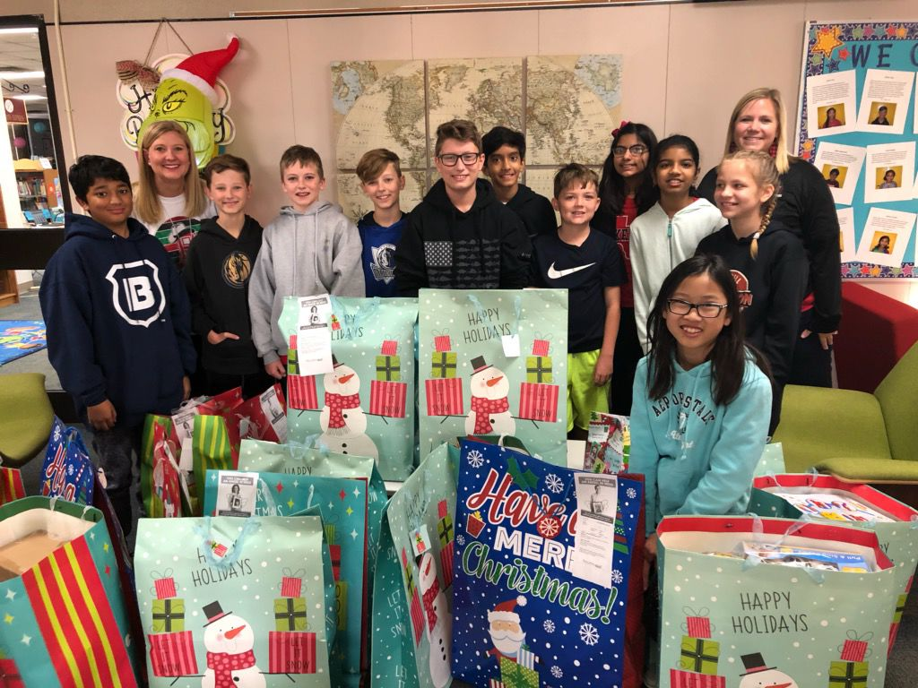 Students provide gifts to children in foster care