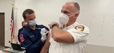 Lewisville and Flower Mound firefighters get vaccine