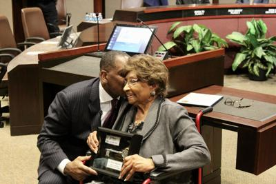 Myrtle Hightower received the key to the city