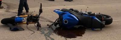 Motorcycle crash on Cross Timbers Road