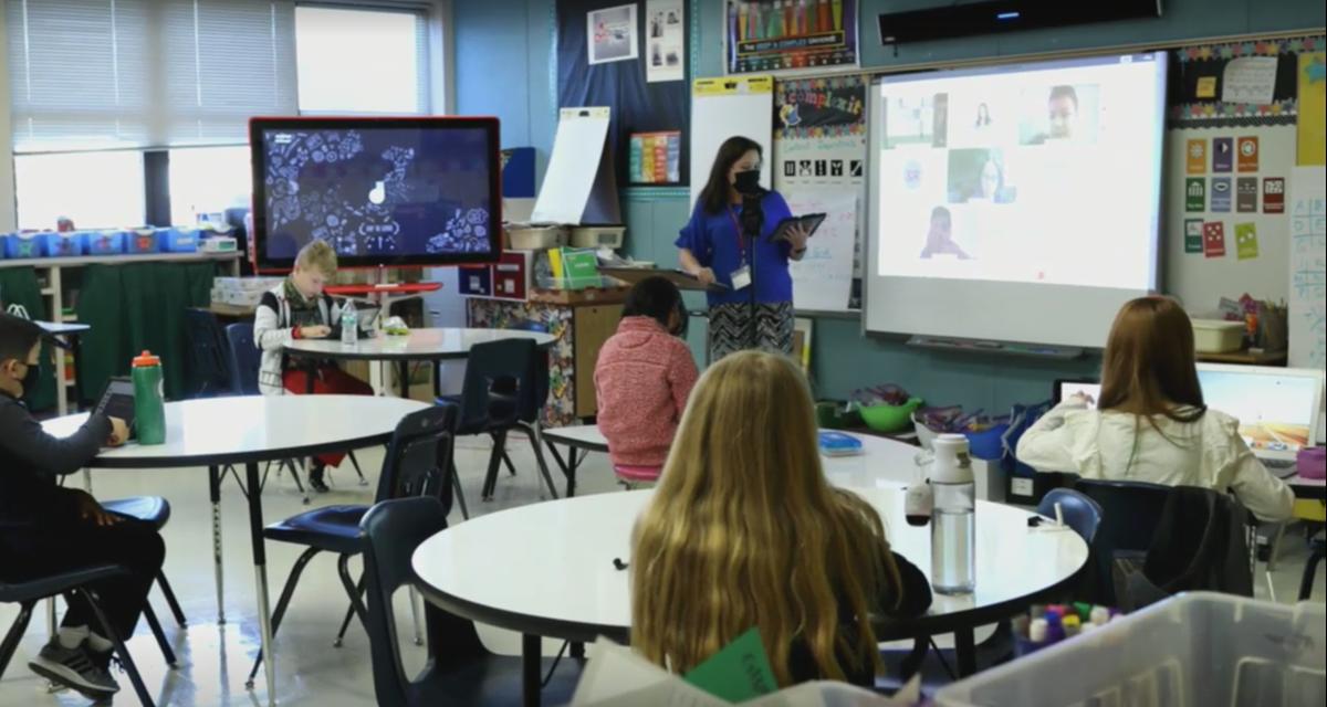 Donald Elementary hybrid classroom