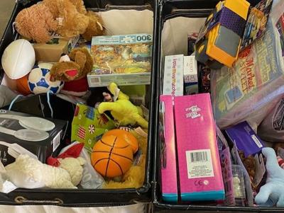 Robbins Dry Cleaning food and toy drive