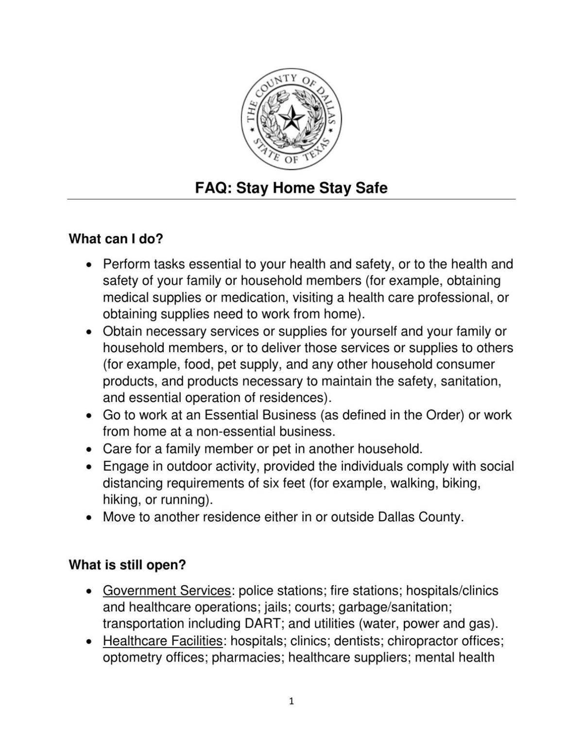 Dallas County FAQ