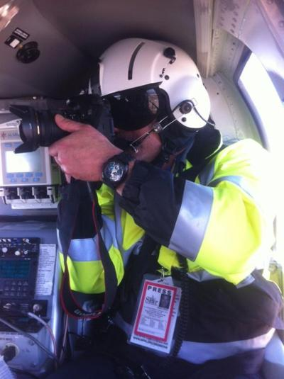 Next on scene: First-response photographer's pictures attract widespread attention