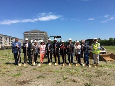 Home2 Suites by Hilton Hotels and Retail Center Development breaks ground in Rowlett