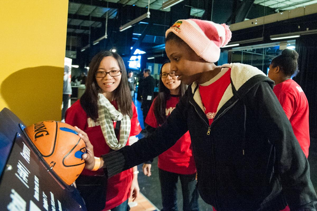 Raytheon's Innovation Row connects Dr Pepper Arena visitors with physics of basketball