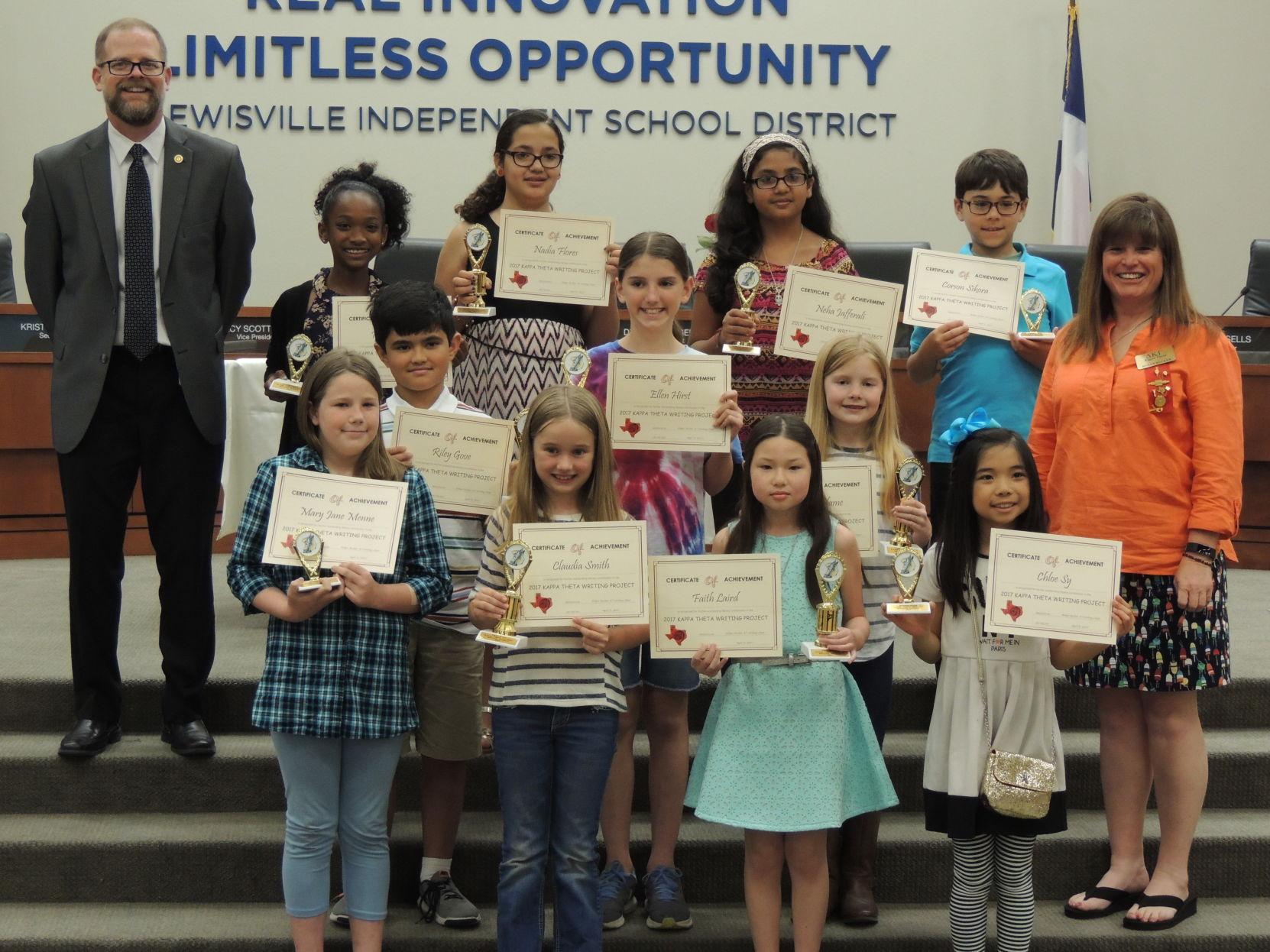 Kappa Theta Writing Students honored at Shining