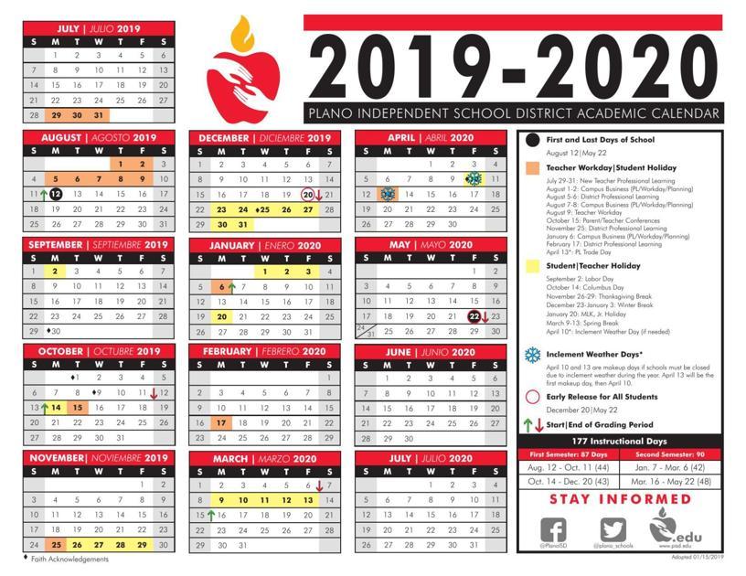 Denton Isd Calendar 2020 Calendar A | Plano Star Courier | starlocalmedia.com