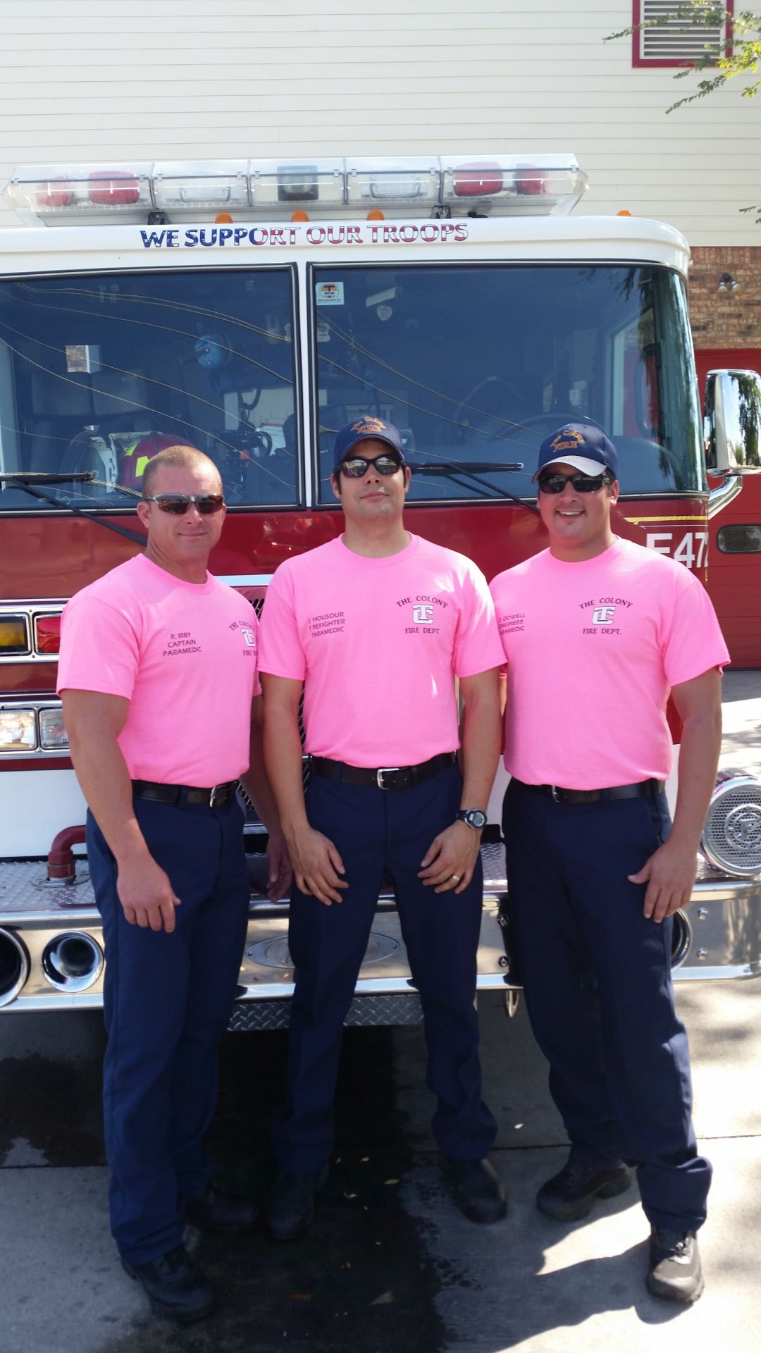 The Colony Firefighters Wear Pink For Breast Cancer Awareness