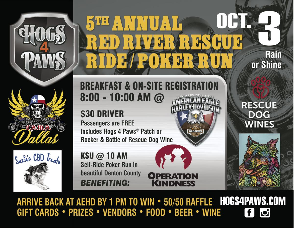 5th Annual Hogs 4 Paws® Red River Ride Rescue Ride & Poker Run