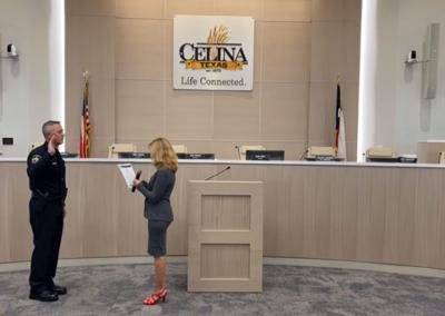 Celina PD swearing in