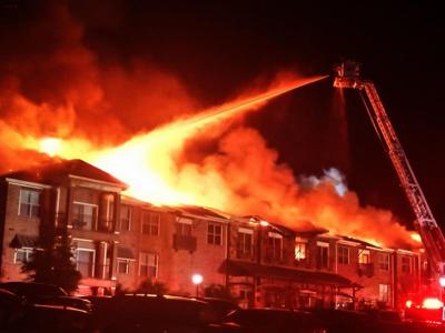 Lewisville fire at Rose Hill Apartments