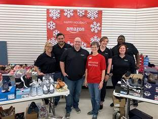 Amazon donated shoes to Metrocrest Services