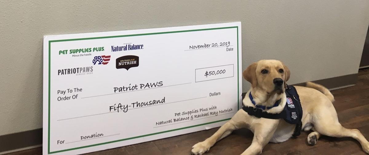 Pet retailer donates $50K to Patriot Paws