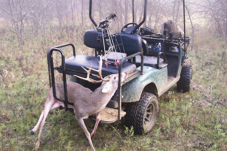 Going all electric converting a golf cart into a glorified hunting luke has used his intimidator electric vehicle made by plano golf carts for the past two years here his intimidator is put to work hauling a buck out of solutioingenieria Gallery