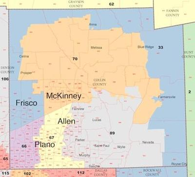 Collin County Map Redistricting 2011: Proposed map shows changes for Collin County
