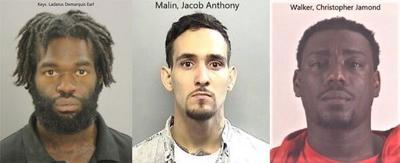 Ladarus Demarquis Earl Keys, Christopher Jamond Walker, Jacob Anthony Malin
