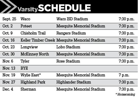West Mesquite Schedule