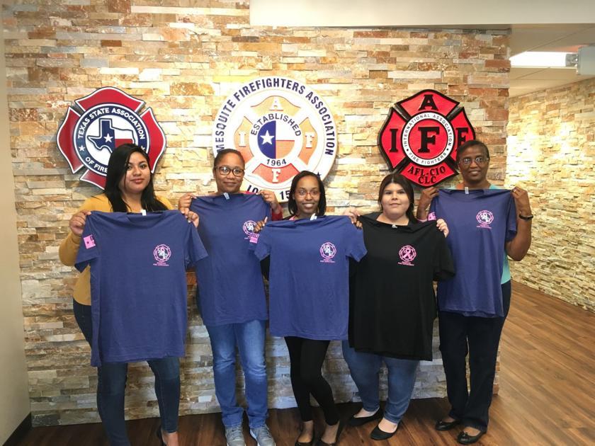 657da2f3 Mesquite Firefighters Association donates to local breast cancer group |  Mesquite News | starlocalmedia.com