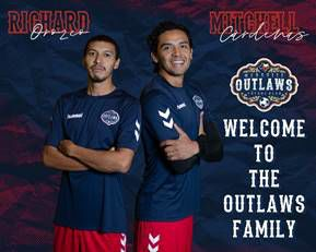 Mesquite Outlaws add midfielder, defender to inaugural season team