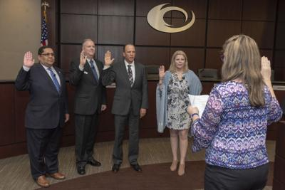 New & and Returning Collin College Trustees Swearing in