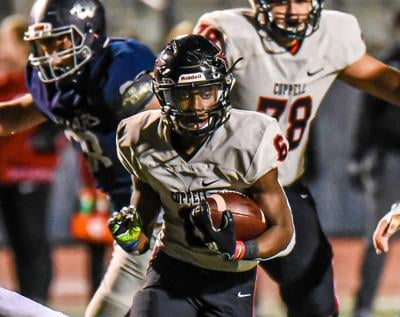 Coppell running back Jason Ngwu
