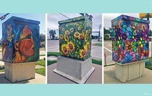 Traffic signal box art
