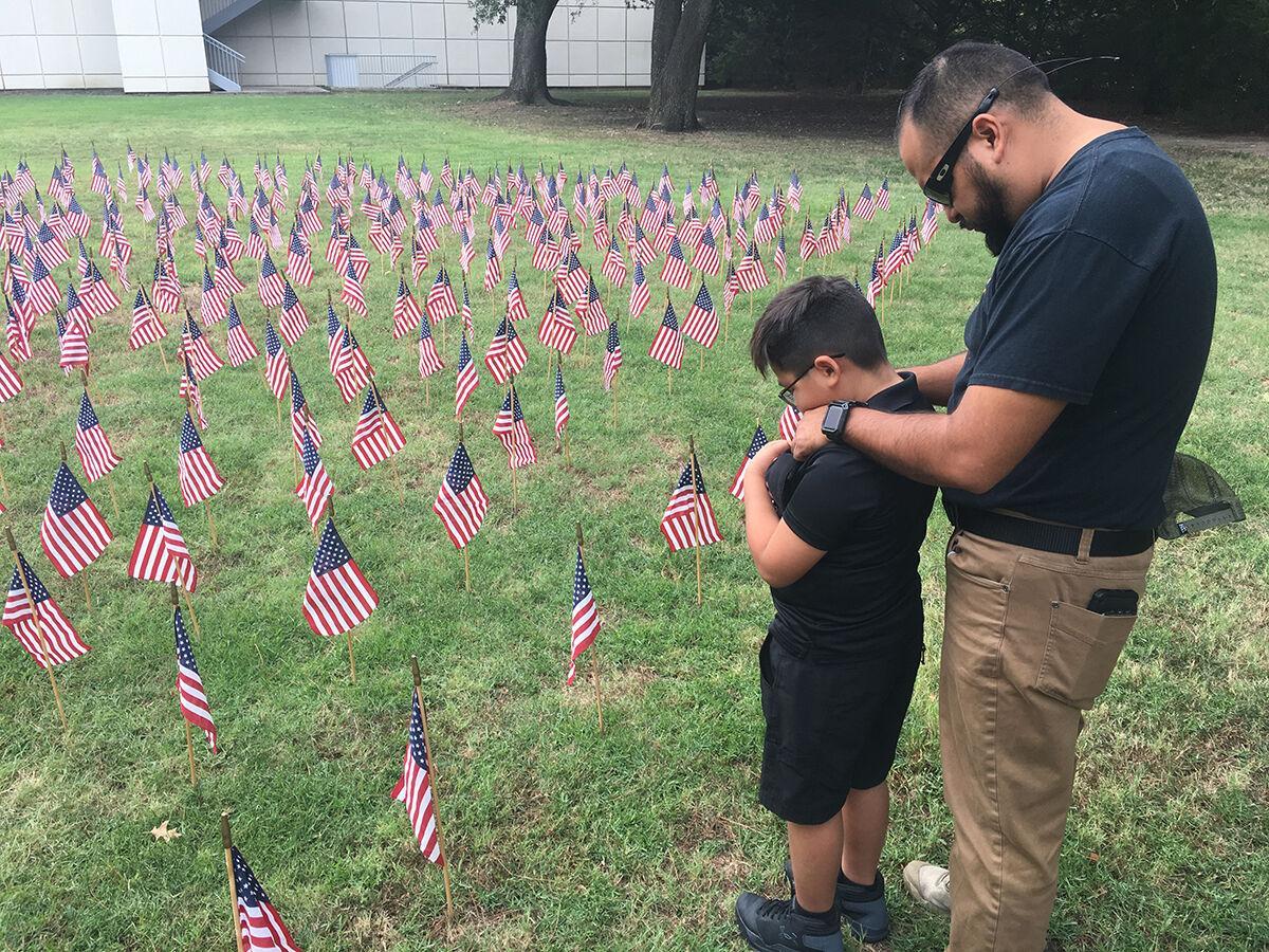 Mesquite Freedom Park - field of flags on 911 - Mesquite TX.jpg