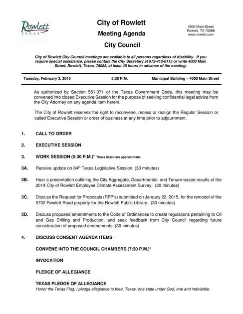 City Council Agenda for Feb  3, 2015     starlocalmedia com