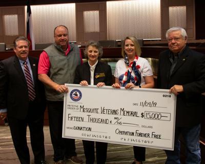 Operation Forever Free donates $15K towards Mesquite Veterans Memorial