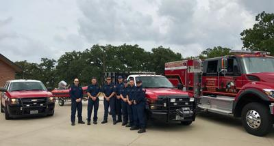 Members of the Flower Mound Fire Department prepare to head to South Texas to assist in recovery efforts from Hurricane Harvey.