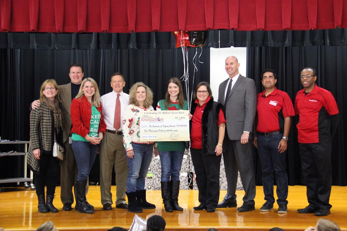 "CISD administrators and CEF board members took their ""grant patrol"" to  Mockingbird Elementary School on Dec. 7 to drop off a check to several  teachers."