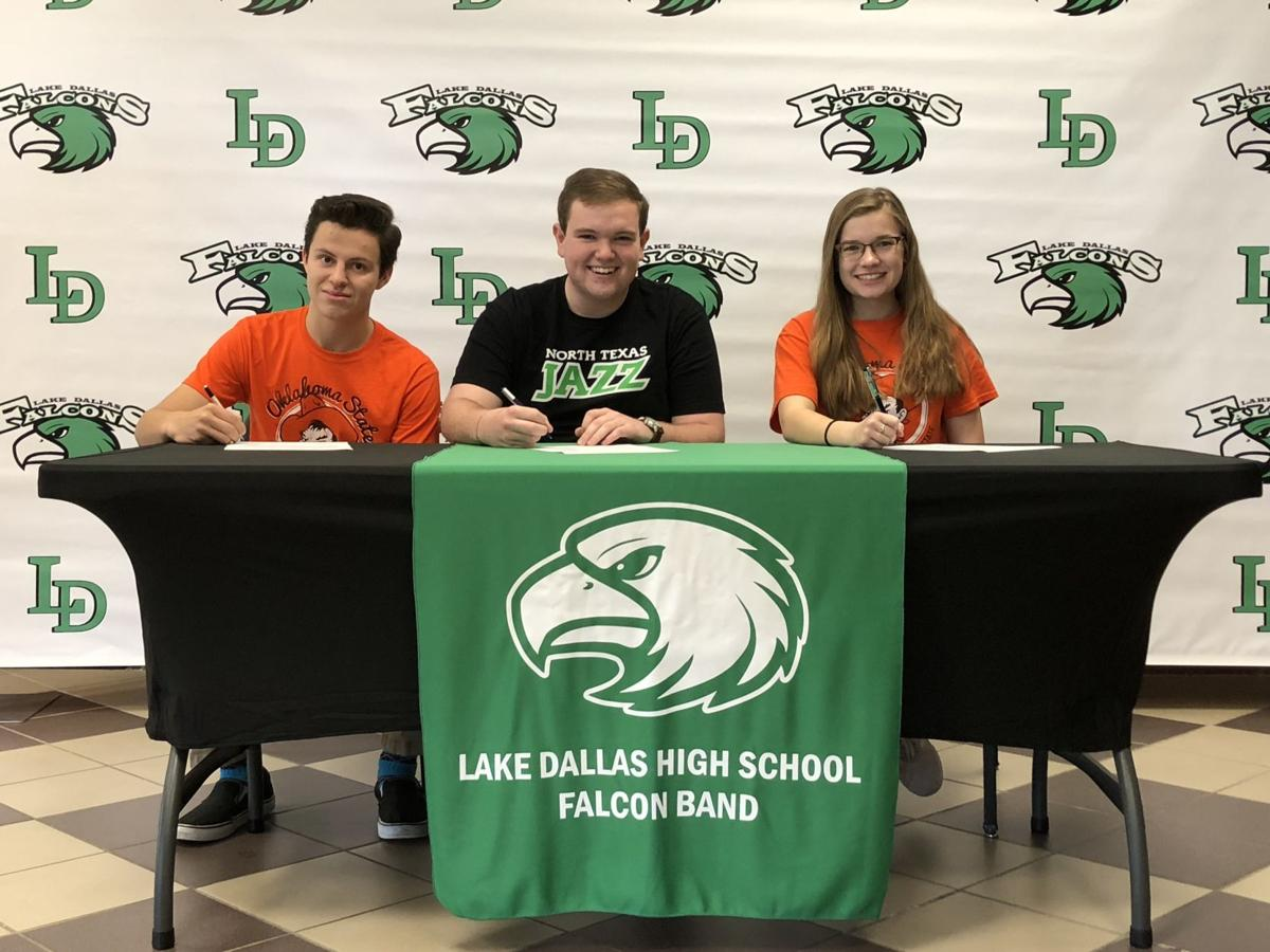 Lake Dallas band seniors sign with colleges